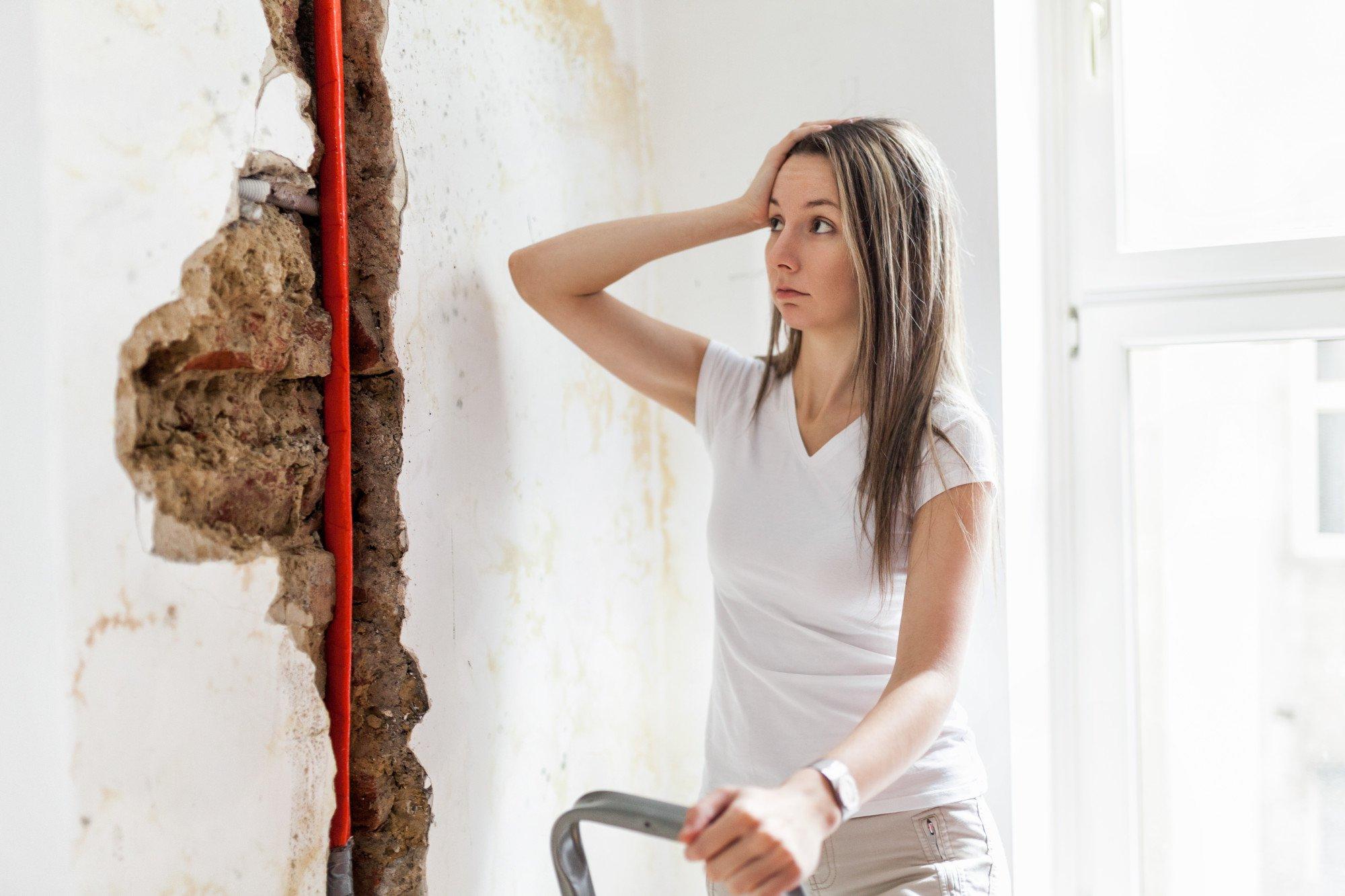 water leak in the wall
